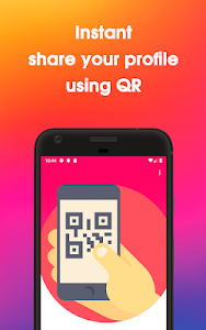 screenshot of Instant Followers and Likes using QR & Hashtags version v-1.0