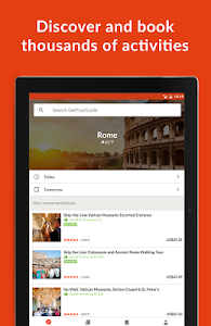 screenshot of GetYourGuide Tours & Tickets version 2.33.2