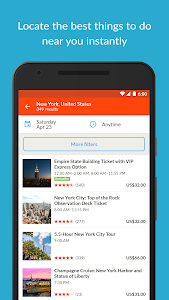 screenshot of GetYourGuide Tours & Tickets version 2.12.2