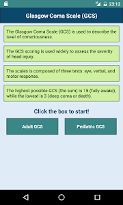 screenshot of Glasgow Coma Scale (GCS) version 1.1