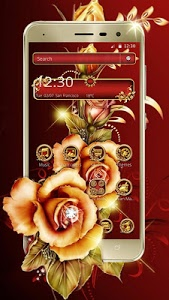 screenshot of Golden Red Luxury Rose Theme version 1.1.4