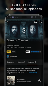 screenshot of HBO GO version 5.5.0