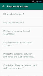 screenshot of HR Interview Questions Answers version 1.1