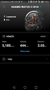 screenshot of Huawei Wear version Varies with device