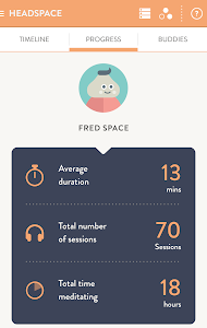 screenshot of Headspace.com - meditation version 2.0.3