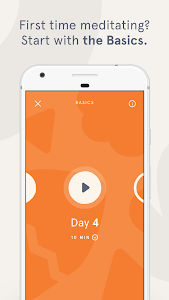 screenshot of Headspace version Varies with device