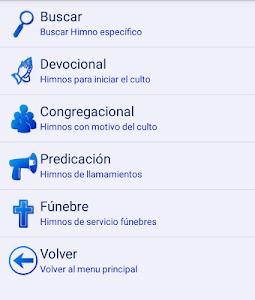 screenshot of Himnario Evangélico version 5.7