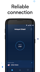 screenshot of Hotspot Shield Free VPN Proxy & Wi-Fi Security version 6.9.7