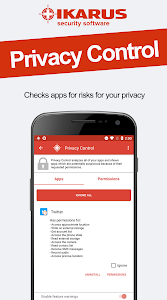 screenshot of IKARUS mobile.security version 2.0.1