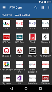 screenshot of IPTV Core version 3.9.4