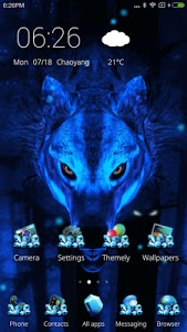 screenshot of Ice Wolf 3D Theme version 1.5.2
