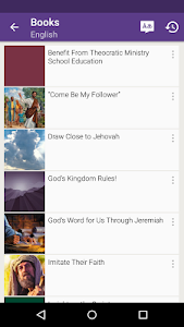 screenshot of JW Library version Varies with device