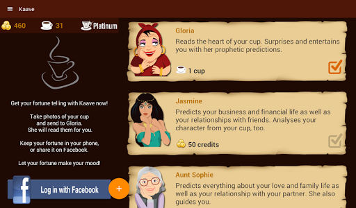 screenshot of Kaave - Coffee Cup Readings version 1.9.49