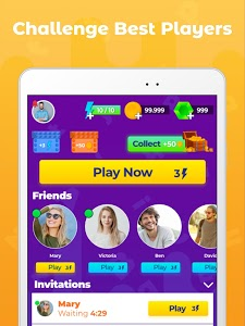 screenshot of Word Rush: Race with friends version 3.0.7
