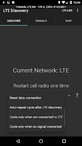 screenshot of LTE Discovery version Varies with device