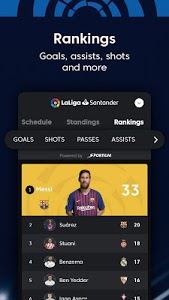 screenshot of La Liga Live Soccer Scores, Stats, News Highlights version 7.3.8