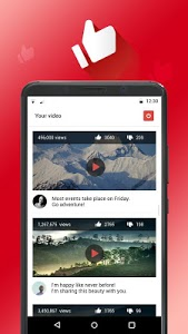 screenshot of Likes and subscribers on YouTube version 14.0
