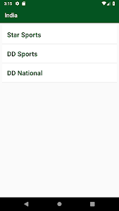 screenshot of Live Sports Tv Cricket World Cup Guide version 1.1