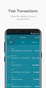 screenshot of LOBSTR Stellar Lumens Wallet. Simple & Secure app. version 4.3.0