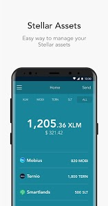 screenshot of LOBSTR Stellar Lumens Wallet. Simple & Secure app. version 4.3.1