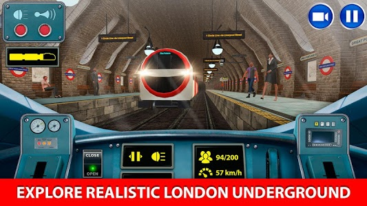 screenshot of London Subway Train Simulator version 2.3.2