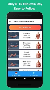 screenshot of Lose Belly Fat - Home Workout version 1.0.10