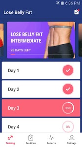 screenshot of Lose Belly Fat in 30 Days - Flat Stomach version 1.2.9