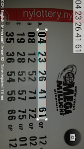 screenshot of Lottery Ticket Checker (Scanner) version 2.14