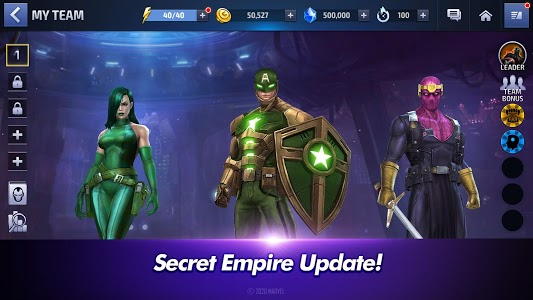 screenshot of MARVEL Future Fight version 5.8.0