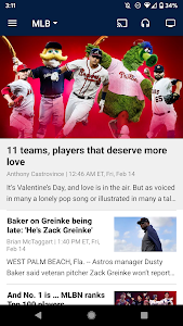 screenshot of MLB version Varies with device