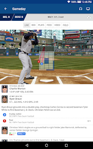 screenshot of MLB At Bat version 7.2.2