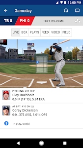 screenshot of MLB.com At Bat version Varies with device
