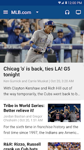 screenshot of MLB.com At Bat version 5.6.0