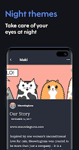 screenshot of Maki: Facebook and Messenger in one awesome app version 4.0.5 Hortensia