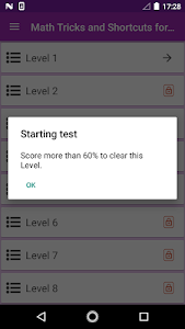 screenshot of Math Tricks Competitive Exam version 1.0