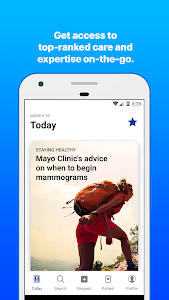 screenshot of Mayo Clinic version Varies with device