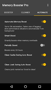 screenshot of Memory Booster for Android Pro version Varies with device