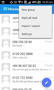 screenshot of Messaging SMS version 2.1.6.3805.01