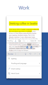 screenshot of Microsoft Word: Write, Edit & Share Docs on the Go version 16.0.12624.20254