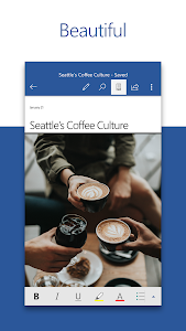 screenshot of Microsoft Word version Varies with device