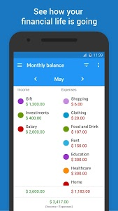screenshot of Mobills: Budget Planner version 3.0.17.03.03