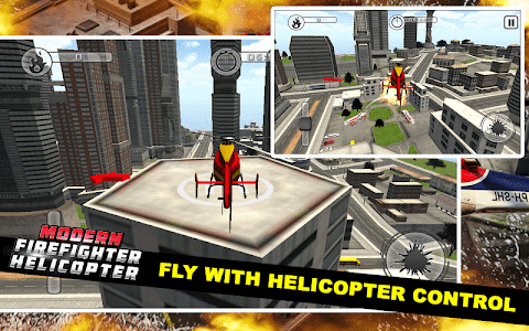 screenshot of Modern Firefighter Helicopter version 2.7