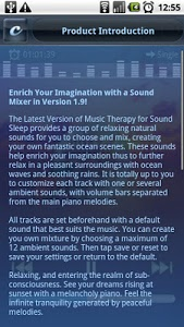 screenshot of Music Therapy for Sound Sleep version 5.2