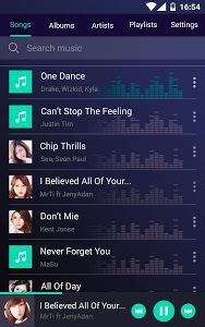 screenshot of Music player version 5.6