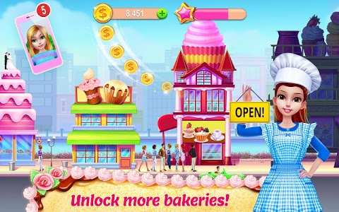 screenshot of My Bakery Empire - Bake, Decorate & Serve Cakes version 1.1.4