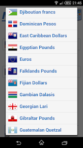 screenshot of My Currency Converter version 2.6