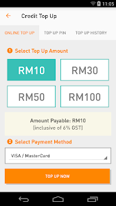 screenshot of MyUMobile version 2.8.0