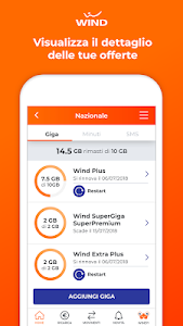 screenshot of MyWind (App ufficiale Wind) version 5.4.6