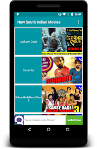 screenshot of New South Indian Movies version 1.2