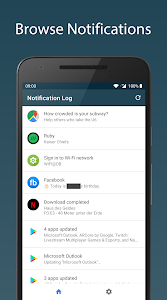 screenshot of Notification Log version 1.11